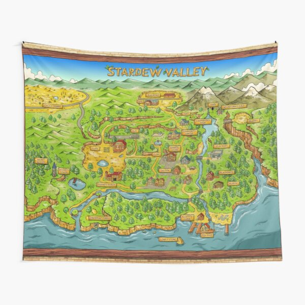Stardew Valley Map Tapestry