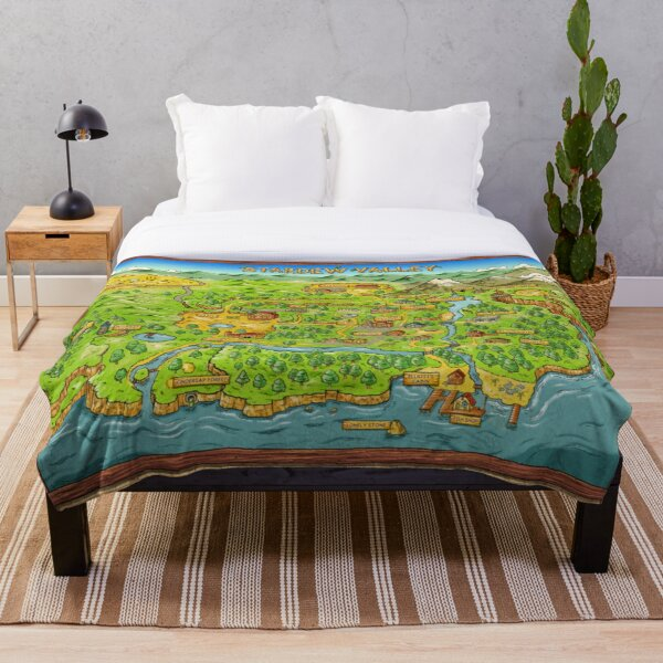 Stardew Valley Map Throw Blanket