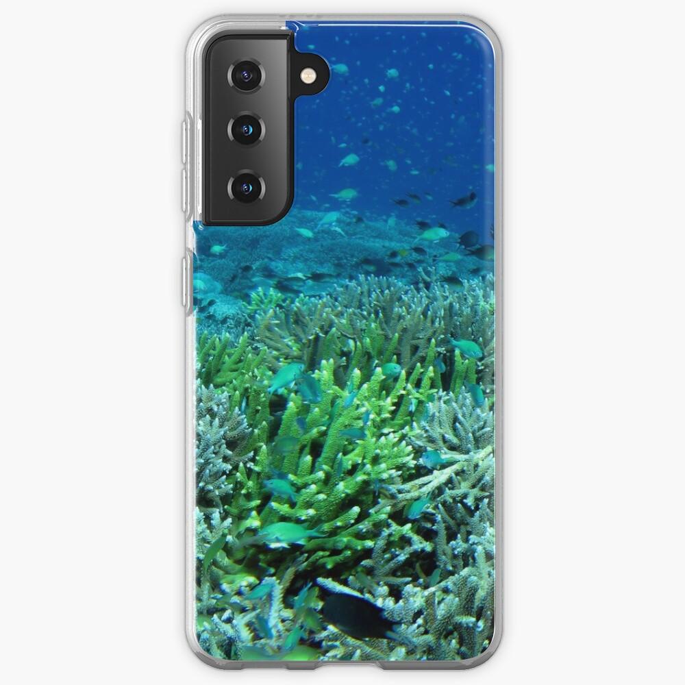 Reef Flat at Saru Namu-Namu Island. Samsung Galaxy Phone Case