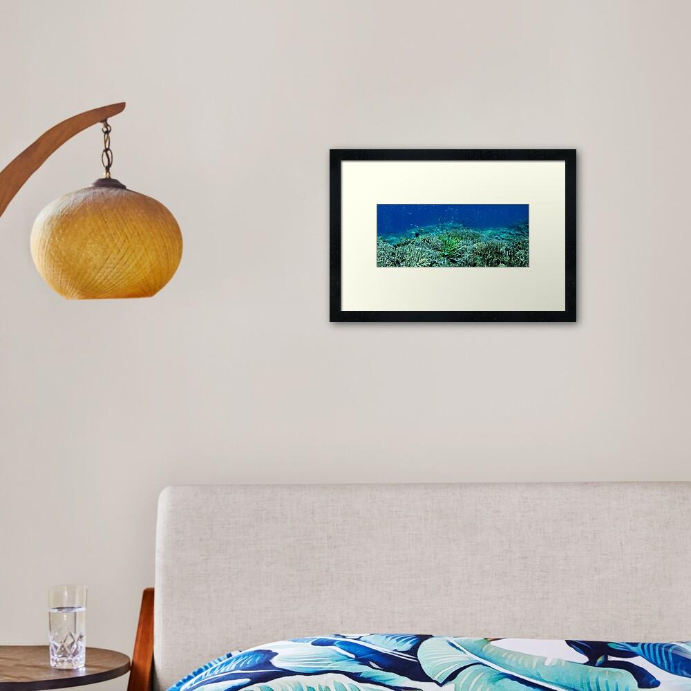 Reef Flat at Saru Namu-Namu Island. Framed Art Print