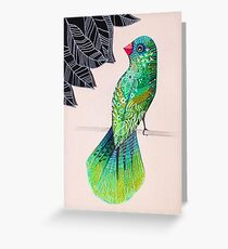Fancy tailed bird Greeting Card