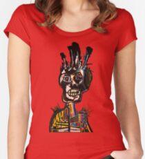 Basquiat African Skull Man Women's Fitted Scoop T-Shirt