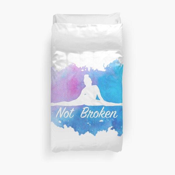 Not Broken Watercolor Duvet Cover