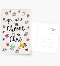 you are the cheeni to my chai Postcards