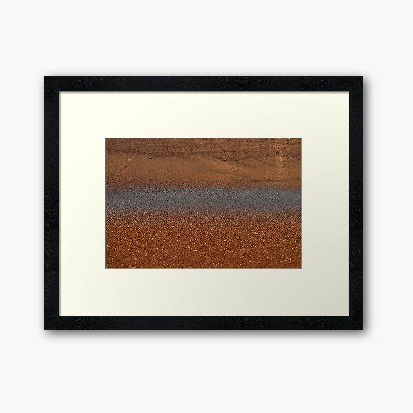 Wet Sands Framed Art Print