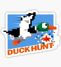 Duck Hunt Retro Cover Sticker