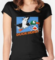 Duck Hunt Retro Cover Women's Fitted Scoop T-Shirt
