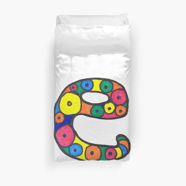 letter e in colorful circles Duvet Cover
