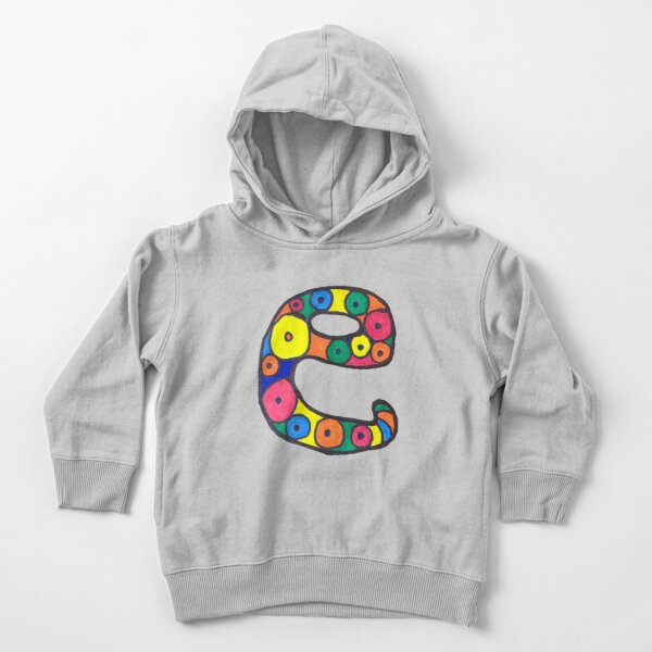 letter e in colorful circles Toddler Pullover Hoodie
