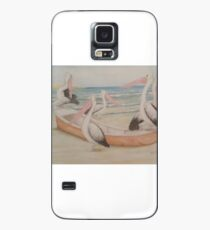 Pelican Pirates take over a dinghy Case/Skin for Samsung Galaxy