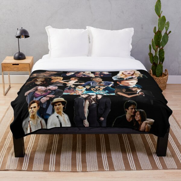 TVD collage Throw Blanket