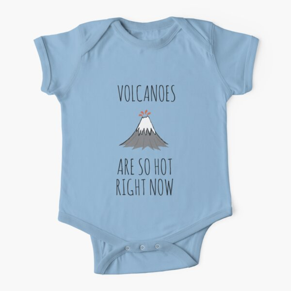 Volcanoes are so hot right now Short Sleeve Baby One-Piece