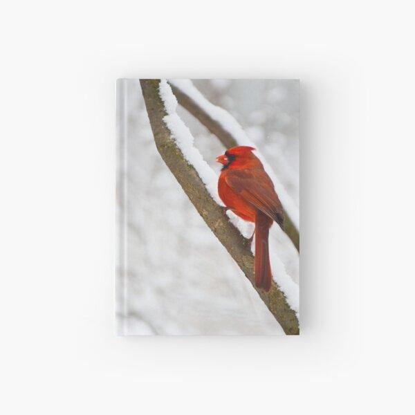 Cardinal's Snowy Breakfast Hardcover Journal