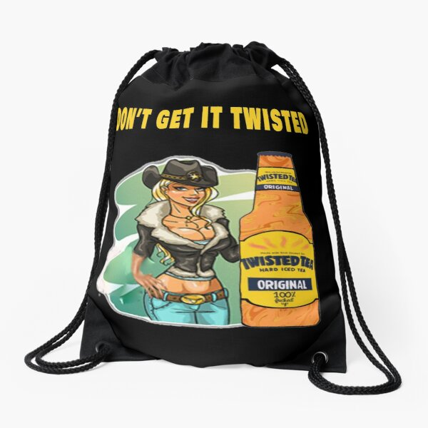 Twisted Tea ,Don't get it twisted , Best Design,Be a little twisted  Drawstring Bag