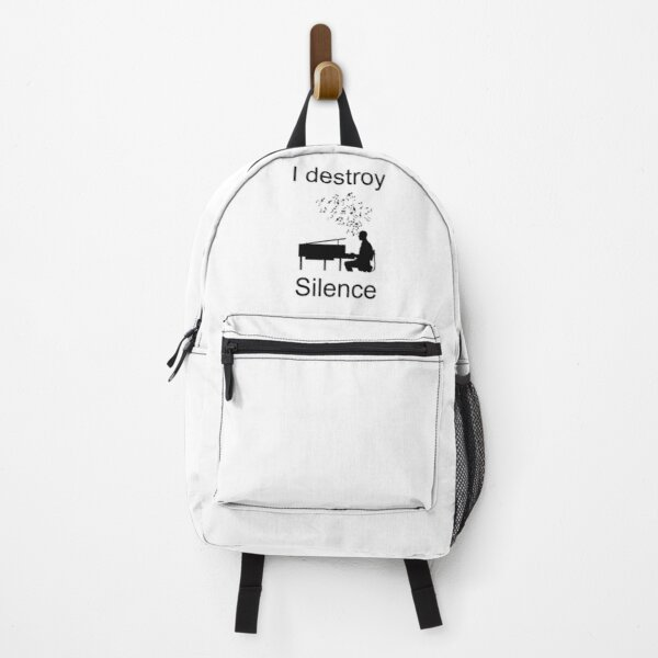 I destroy silence piano Backpack