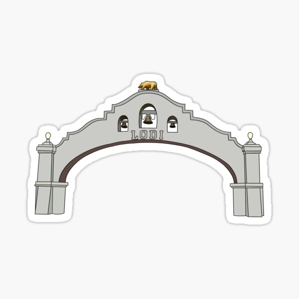 Lodi Arch Sticker