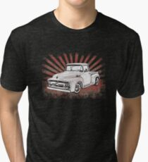 1956 Ford Truck with Sunburst Tri-blend T-Shirt
