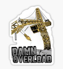 Tower Crane Incident Sticker