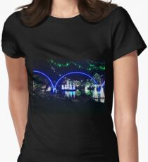 Lights at the zoo at night Women's Fitted T-Shirt