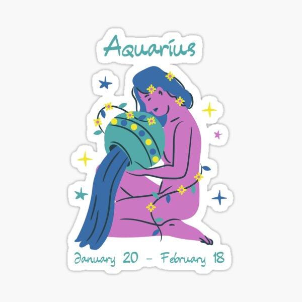 Aquarius The Water Bearer Zodiac Sticker