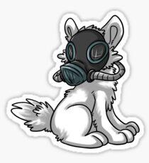 'Souls RPG Pup - gas mask Sticker