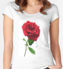 SOME SAY LOVE ..IT IS A FLOWER.. Women's Fitted Scoop T-Shirt