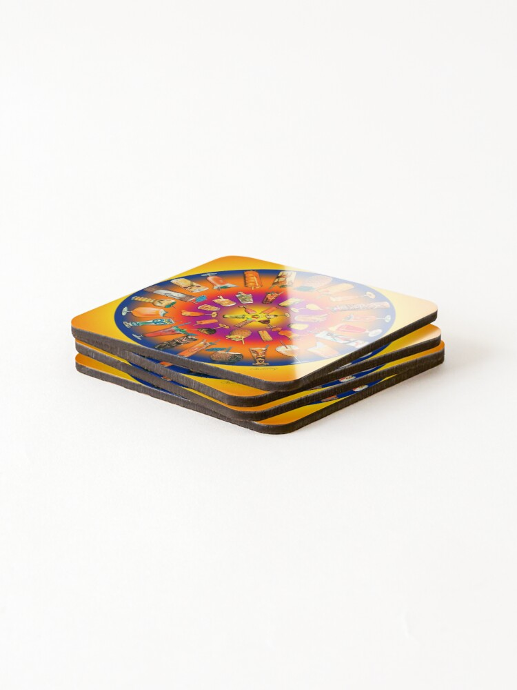 Alternate view of Fabulous Fiftees Coctail Mandala Coasters (Set of 4)