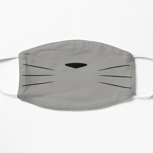 Totoro face Flat Mask