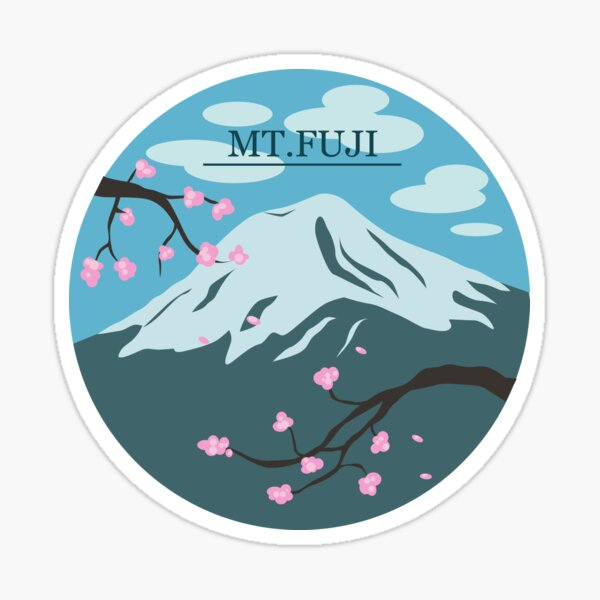 Mt. Fuji (Blue) Sticker