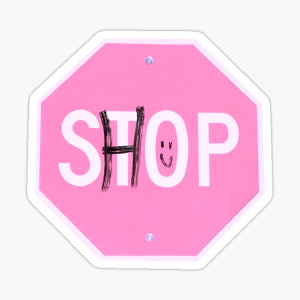 shop sign Glossy Sticker