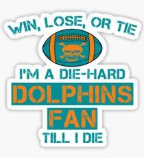 die hard dolphins Fan Sticker