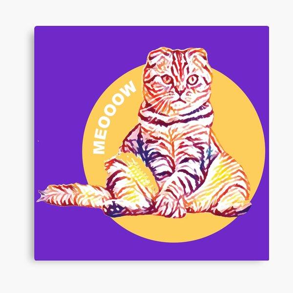 Meow Cat Art Canvas Print
