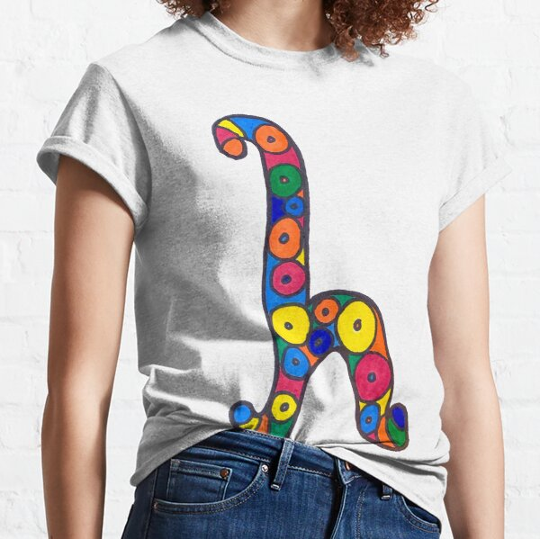 letter h in colorful circles Classic T-Shirt