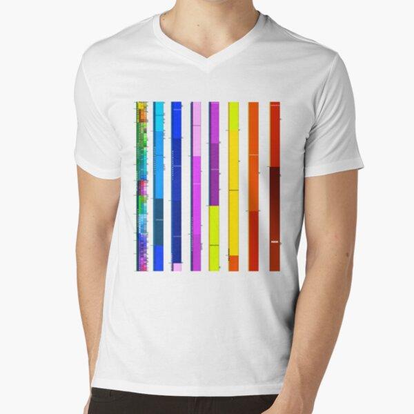 entonces Camiseta de cuello en V