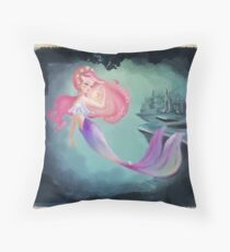 Moana - the mermaid who came from the moon Throw Pillow