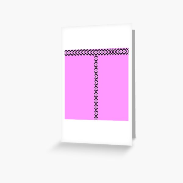 Pink Palace- Jayne Mansfield Inspired Bubblegum pink  Greeting Card