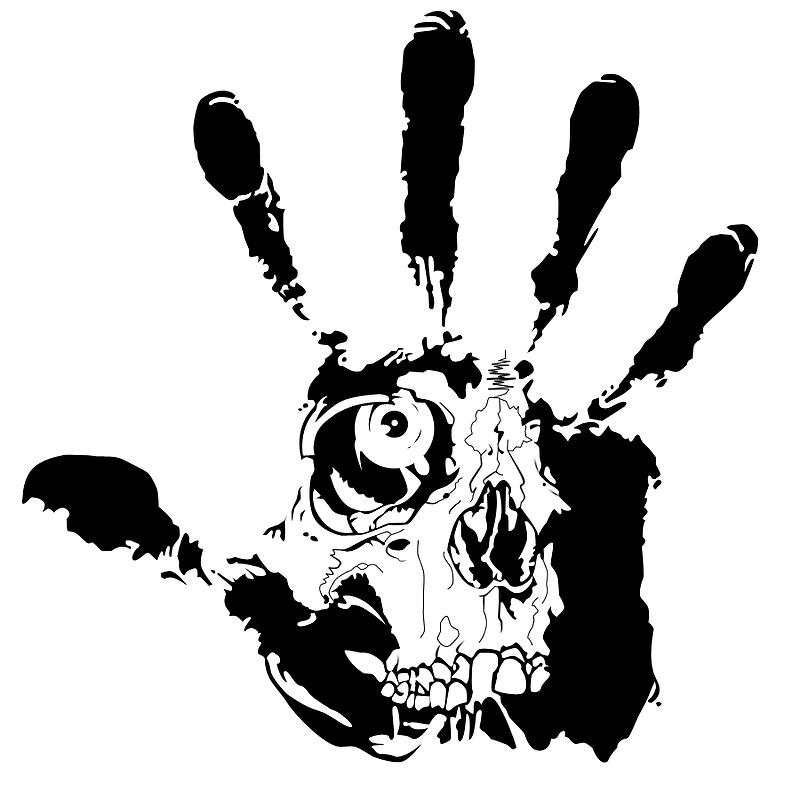 Black hand skull by gamasuntra