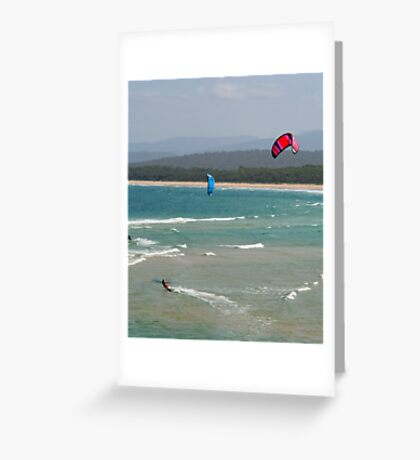 Wind Surfers Merimbula New South Wales Greeting Card