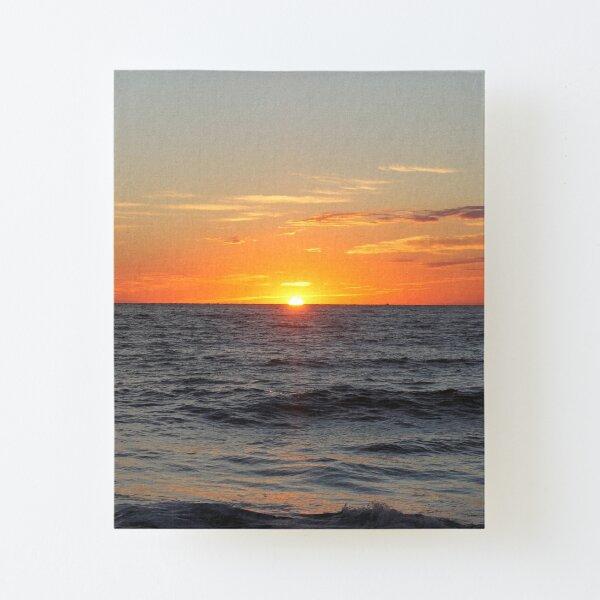 Horizon: Sun and Ocean Canvas Mounted Print