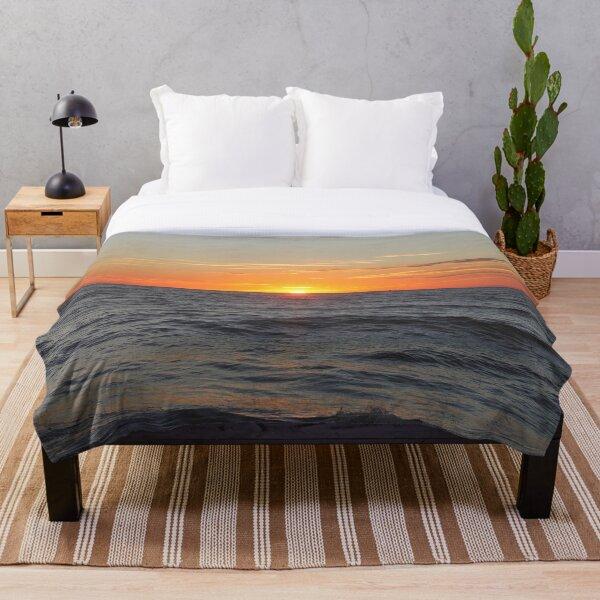 Horizon: Sun and Ocean Throw Blanket