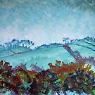 Devon Landscape Painting - The Gloomy Sky by MikeJory