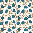 blue flower pattern by Maria Khersonets
