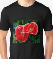 White picotee Papaver rhoeas T-Shirt