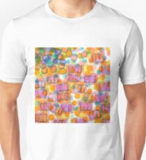 Happy Pattern with Pink Blocks T-Shirt