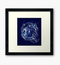 Time and space machine Framed Print