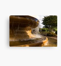 One Fine Autumn Day by the Golden Marble Fountain Canvas Print