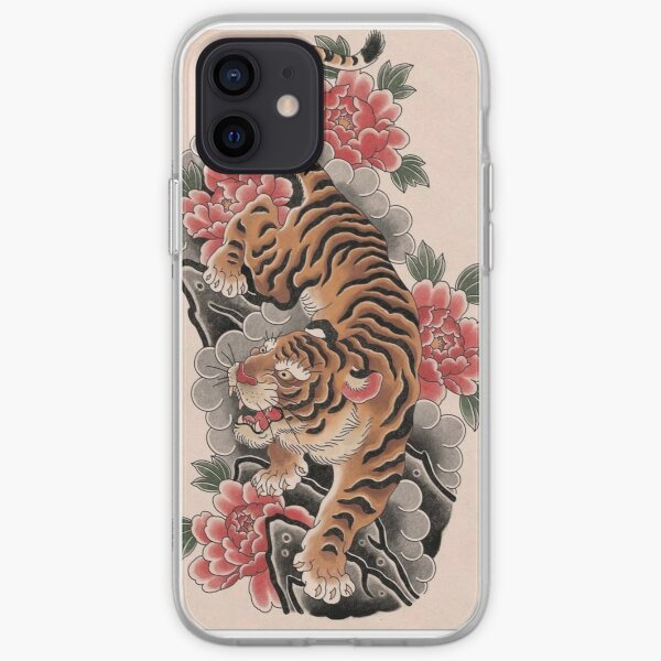 Tiger and Peony  iPhone Soft Case