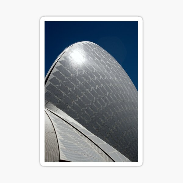 Shark Fin Architecture Sticker