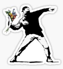 Banksy Flowers Sticker