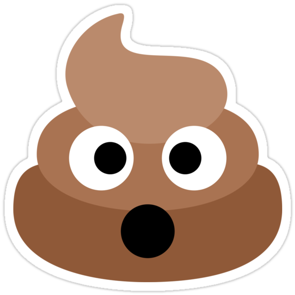 Quot Shocked Poop Emoji Quot Stickers By Luna Snaps Redbubble